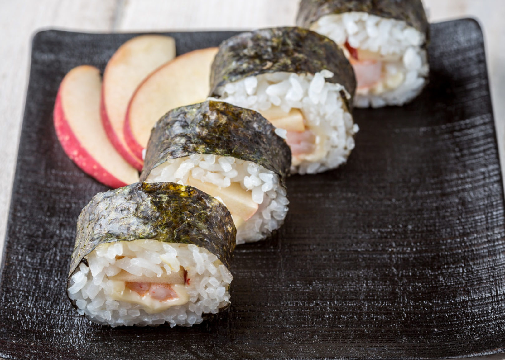 shrimp and apple roll