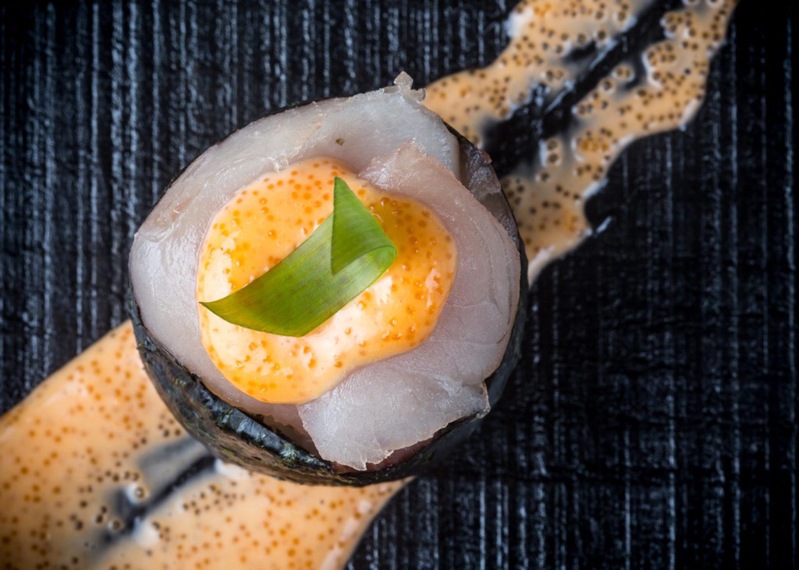 spicy hamachi gunkan maki
