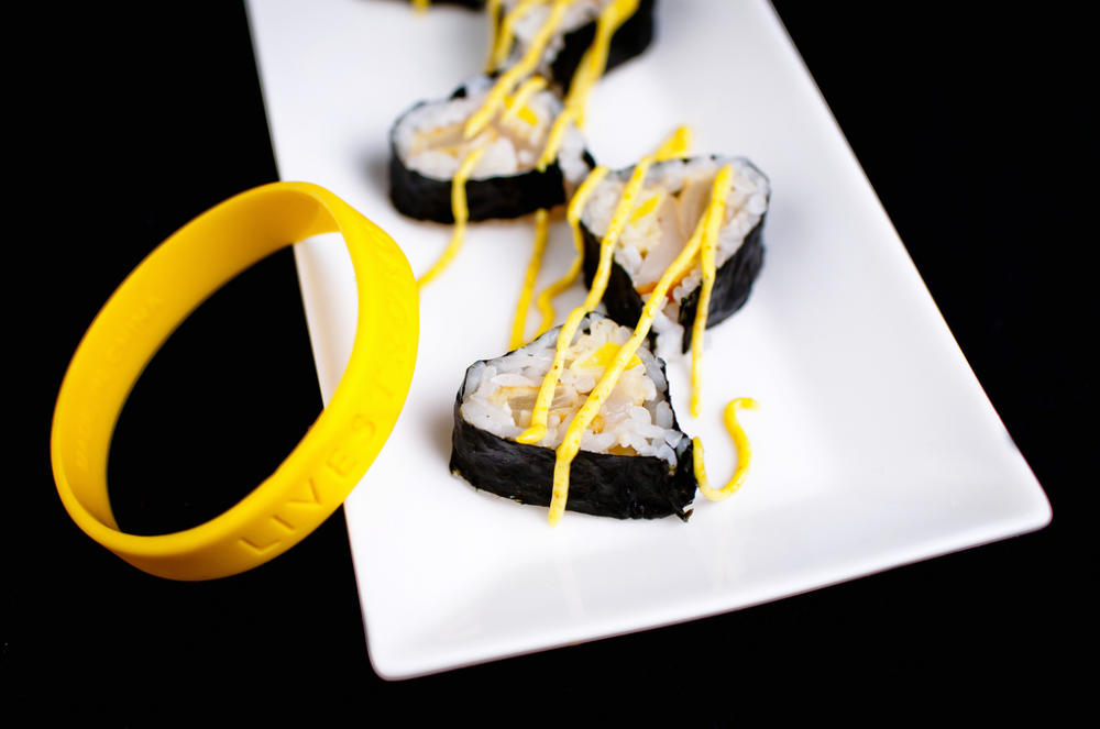curry sushi heart