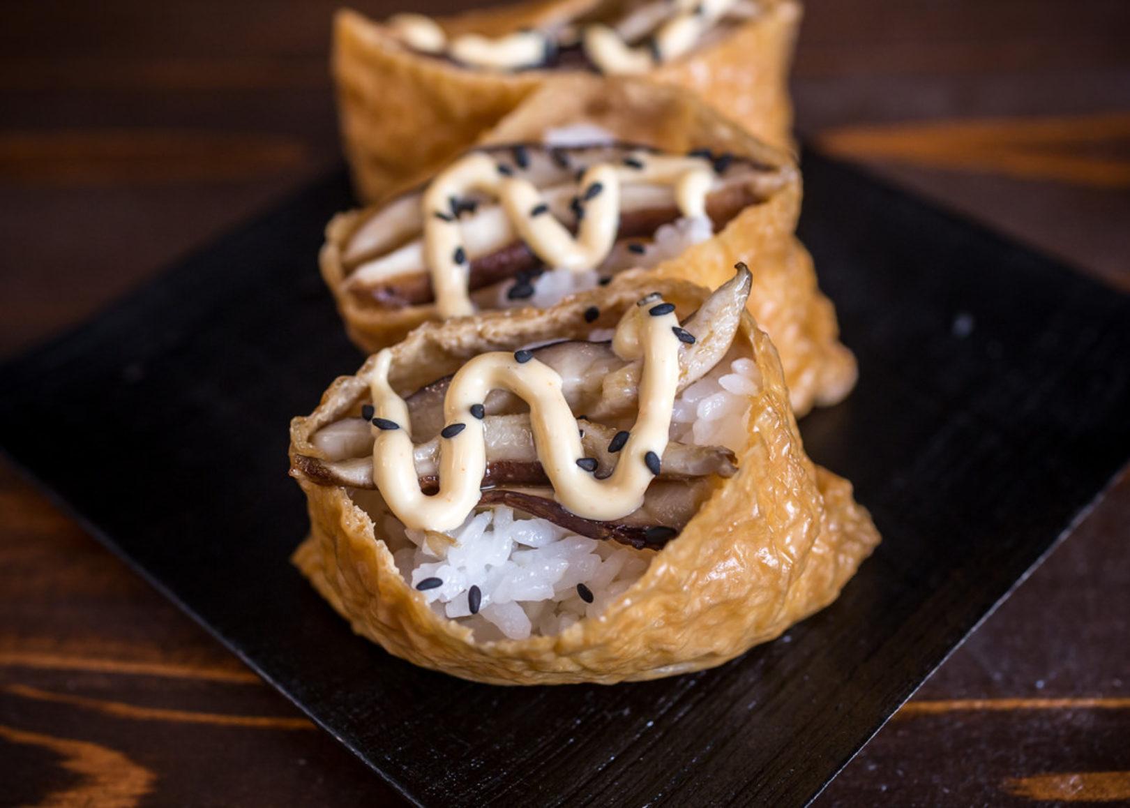 spicy mushroom inari