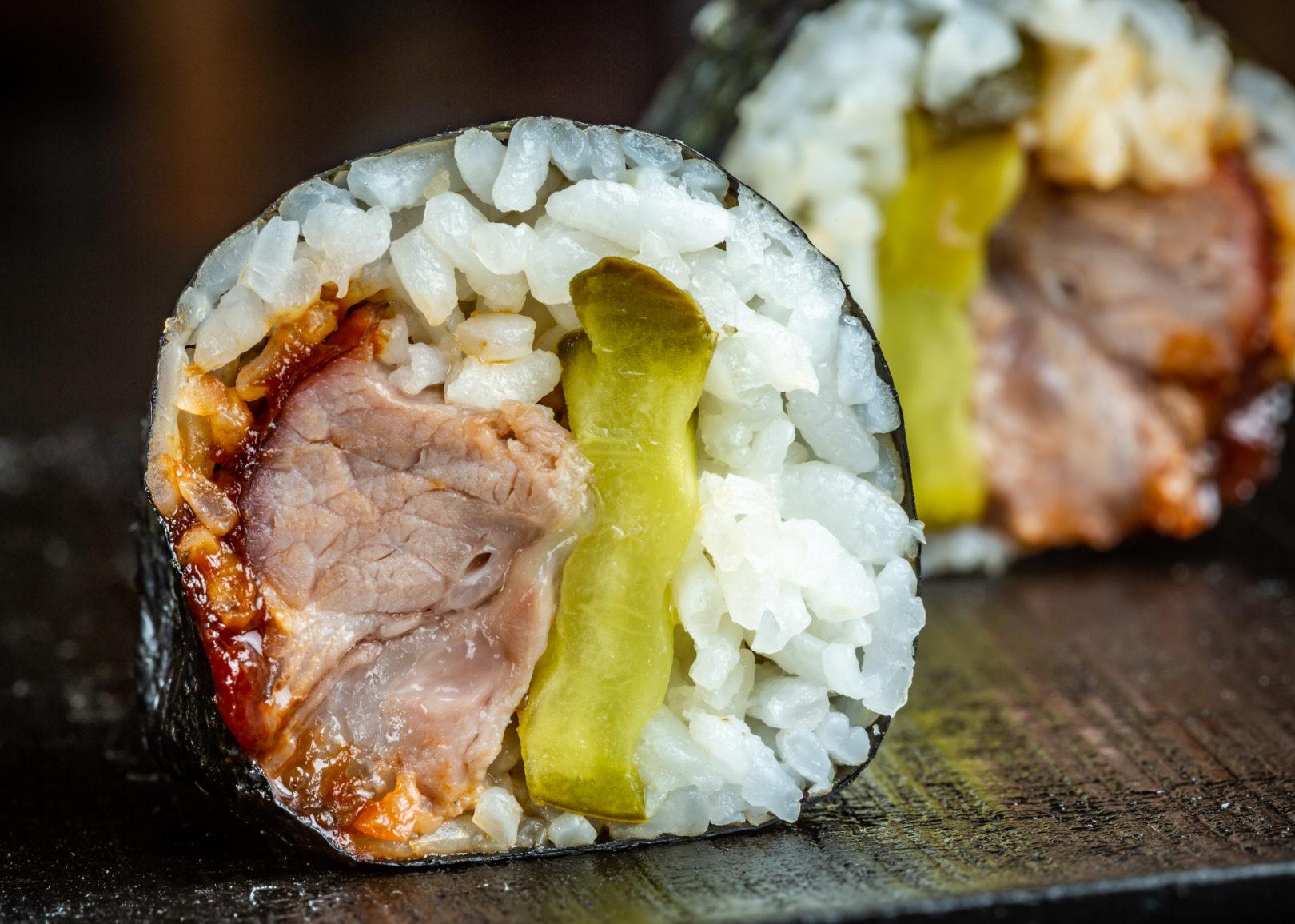 bbq rib sushi