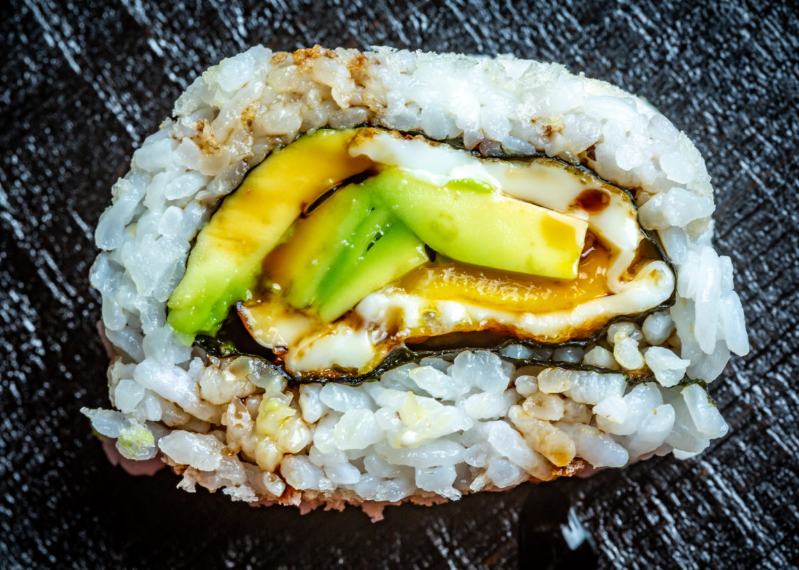 avocado toast sushi