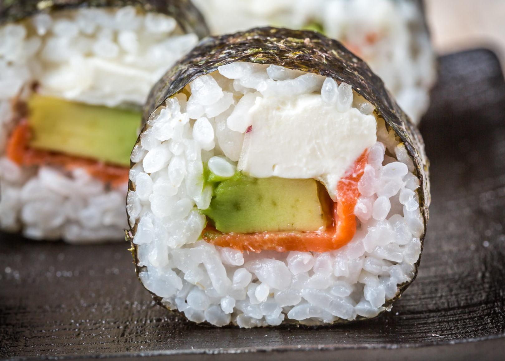salmon summer roll